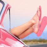 pink convertible flip flops open road lindsey lewis