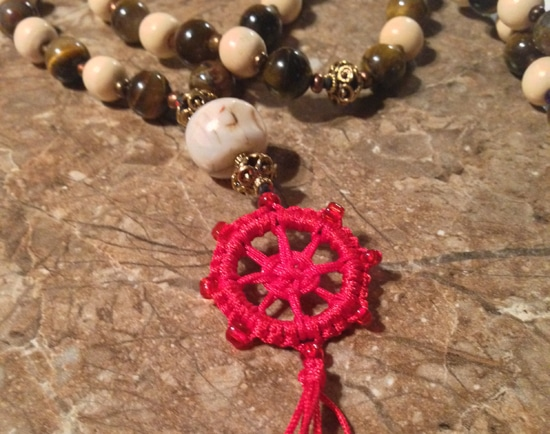 lotus yogini mala bead necklace on libre living with lindsey lewis